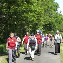 Christian Aid supporters on the Hadrian's Wall Trek, 2011