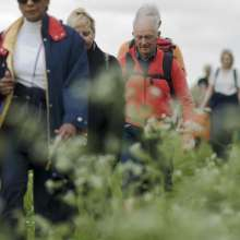 Christian Aid supporters on a Hull to York sponsored walk