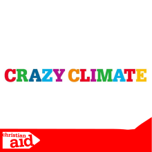 Text reads 'Crazy Climate' in multi coloured font