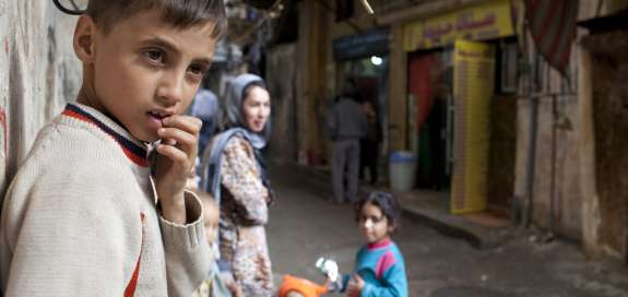 Lebanon Palestinian Boy in Refugee Camp