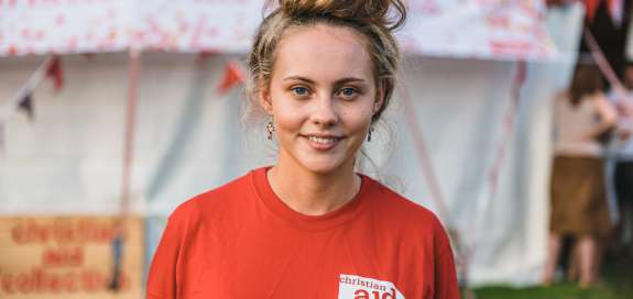 Christian Aid supporter at Greenbelt Festival 2019