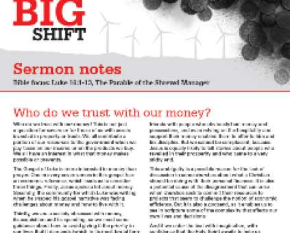 The Big Shift sermon notes thumbnail
