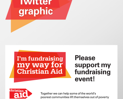 Support my fundraising event - Twitter meme