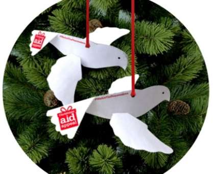 Peace doves flying round the tree!