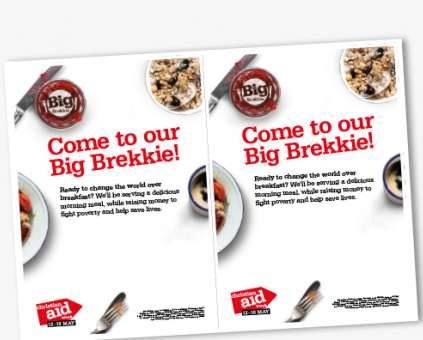 An editable colour flyer for your Big Brekkie event.