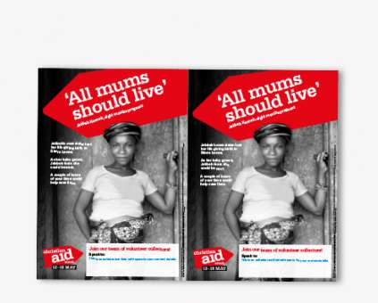 Christian Aid Week editable collector recruitment flyer