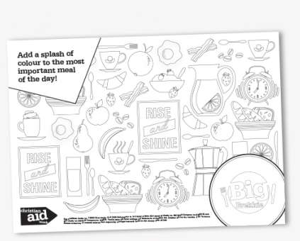 Colouring sheet for 2019 Big Brekkie