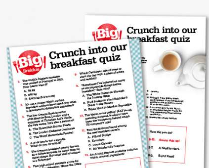 Big Brekkie quiz poster