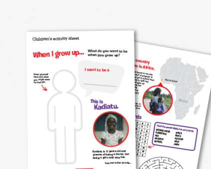 Christian Aid Week children's activity sheet thumbnail