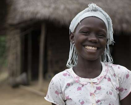 Kadiatu as featured in Christian Aid Week schools film