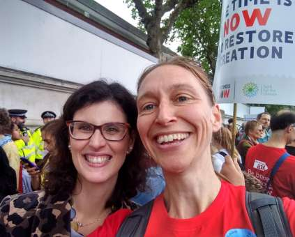 Layla Moran MP and Sarah Clay