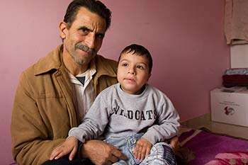 Mohammed Dayoub was born with complex physical and mental disabilities. After fleeing Syria to Lebanon, he received sessions of physiotherapy, occupational therapy and speech therapy from Christian Aid partner, LPHU.