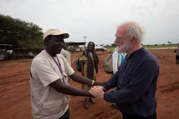 Rowan Williams travelled to Bor, South Sudan, in July 2014, to visit the work of our partners.