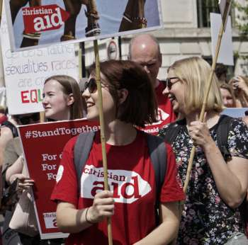 Christian Aid campaigners