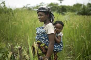 Jebbeh Konneh with her baby in Sierra Leone - Christian Aid