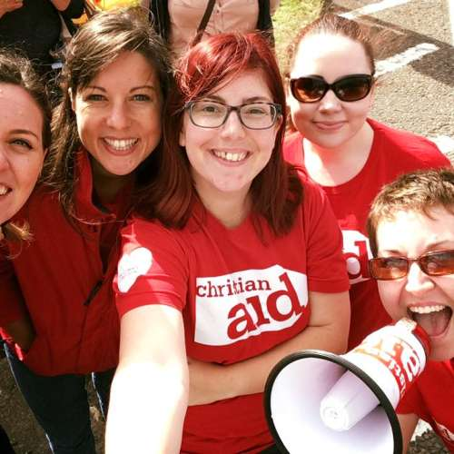 Christian Aid staff at the Great North Run