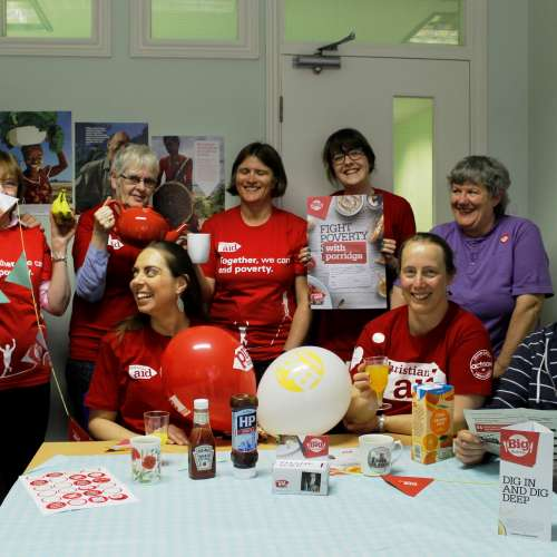 Christian Aid staff in their Yorkshire office