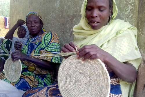 Internally displaced women in Monguno, Nigeria