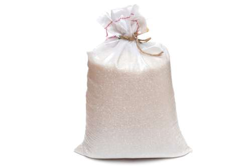 A large sack of rice
