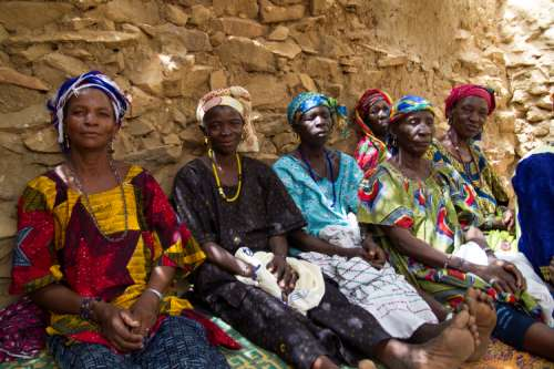 Women's association gathering in Mali