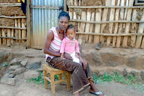 Senait and her daughter, part of the ASURE project in Ethiopia