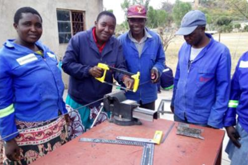 BRACT Zimbabwe trains young people in vocational skills and entrepreneurship in rural areas, to diversify sources of income beyond agriculture and better manage risks of income loss due to effects of climate change
