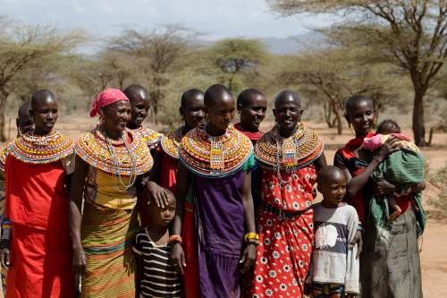 Samburu women gather in northern Kenya
