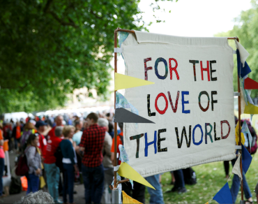 Climate change: 'for the love of' placard.