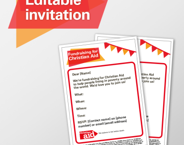 Editable invitation
