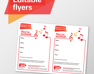 Editable flyers concert for Christian Aid