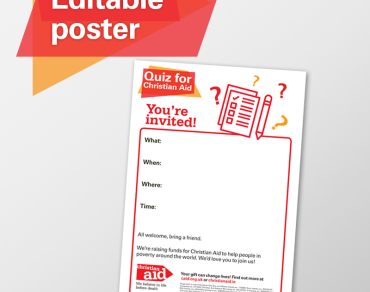 Editable posters - fundraising quiz