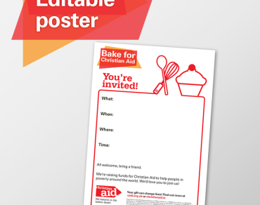 Editable poster - bake for Christian Aid