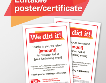 Editable poster and certificate