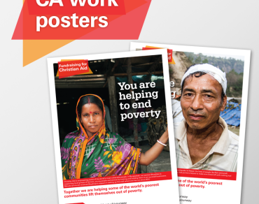 Fundraising for Christian Aid posters thumbnail