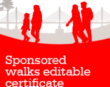 Sponsored Walks thank you certificate thumbnail