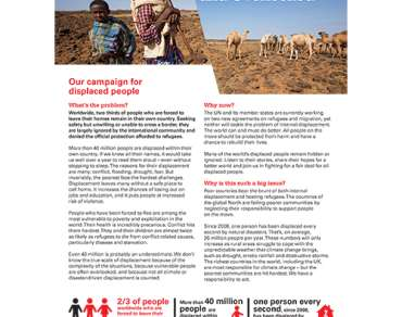 Displacement campaign briefing cover thumbnail