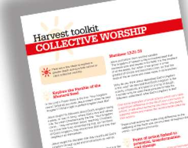 Harvest schools toolkit: collective worship ideas thumbnail