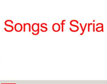 Songs for Syria presentation screenshot