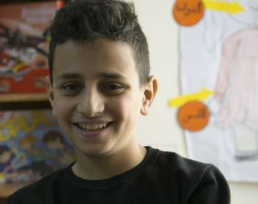 Hamza, a peacemaker featured in our Christmas Appeal