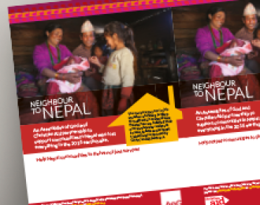Neighbour to Nepal Assemblies of God flyer thumbnail