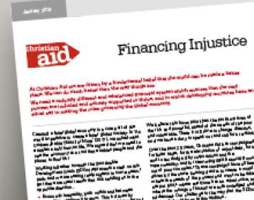 A thumbnail of the financing injustice brief