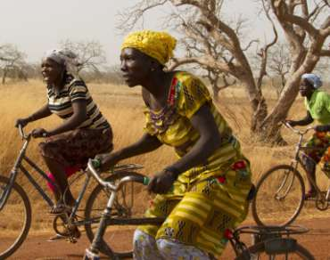 A bicycle race to celebrate Women's Day in Burundi