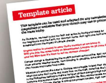 Church template newsletter