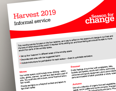Harvest Appeal 2019 Creative order of service