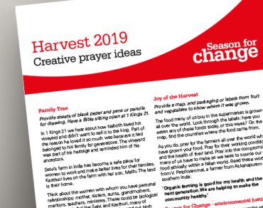 Harvest 2019 prayer sheet thumbnail image