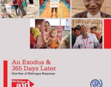 An Exodus and 365 Days Later - one year of Rohingya response - book cover