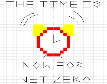 The Time Is Now cross stitch