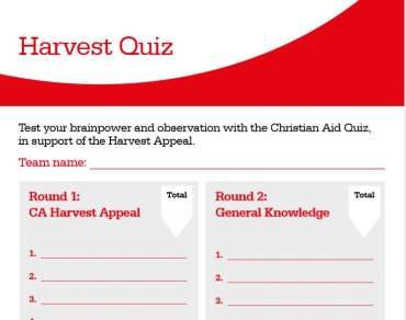 Harvest quiz answer sheet