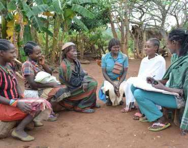 Bona self-help group in Ethiopia, part of the DEC drought recovery programme