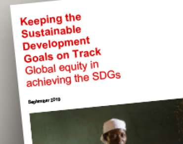 cover of SDG briefing paper